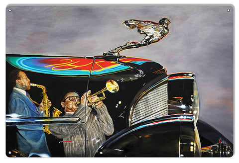 Rolls Royce Reproduction Sign By Artist Donna Wayman-Mauer 12x18