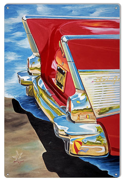 Rear End Chevy Bel Air By Artist Donna Wayman-Mauer 12″x18″