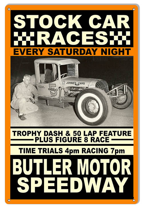 Butler Motor Speedway Reproduction Sign 12″x18″