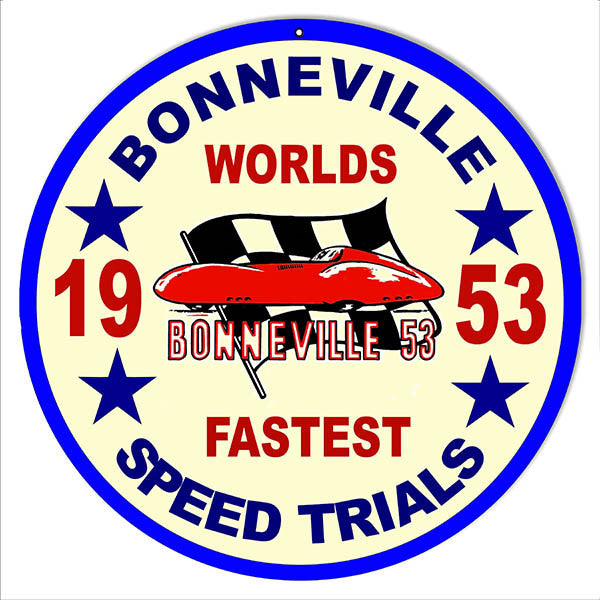 1953 Bonneville  Trials Motor Speedway Reproduction Sign 14x14