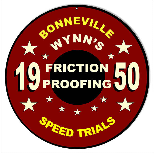 1950 Bonneville Trials Motor Speedway Reproduction Sign 14″ Round