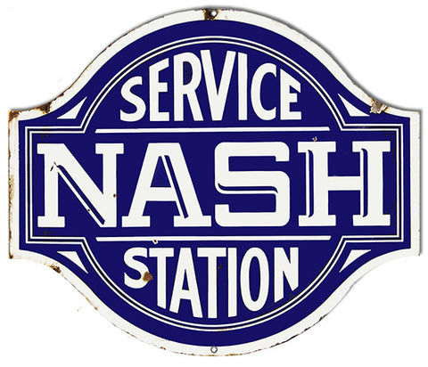 Nash Service Station Laser Cut Out Reproduction Sign 20″x23″