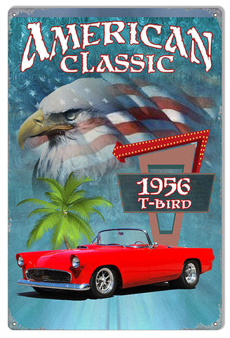 1956 T-Bird Classic By Artist Phil Hamilton 12″x18″