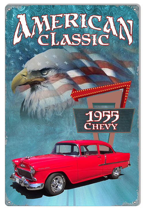 1955 Red Chevy By Artist Phil Hamilton 12″x18″