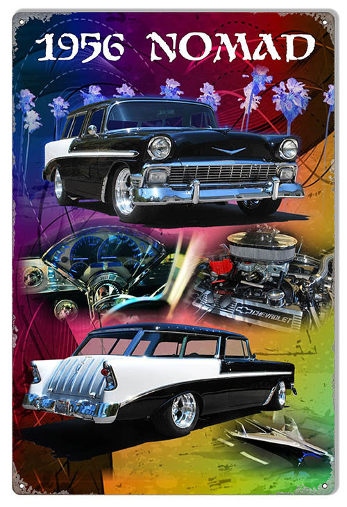 1956 Chevy Nomad Classic By Artist Phil Hamilton 12″x18″