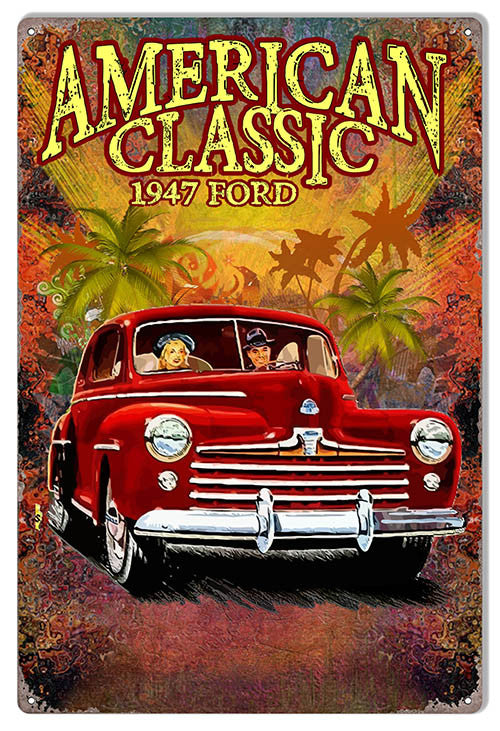 1947 Ford Classic By Artist Phil Hamilton 12″x18″