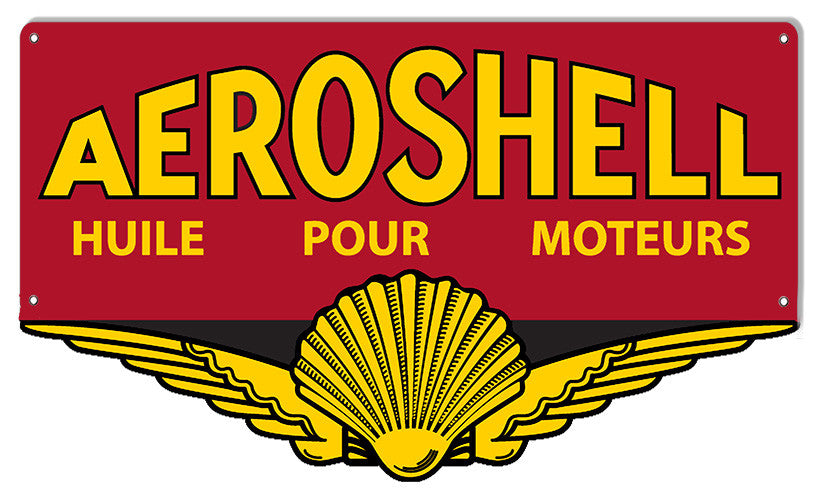 Aeroshell Pour Laser Cut Out Reproduction Sign 14″x23″