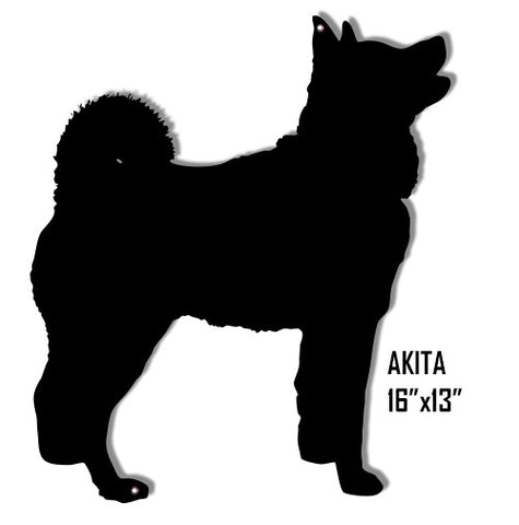 Akita Dog Laser Cut Out Reproduction Sign 13″x16″