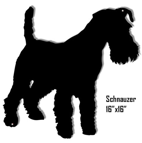 Schnauzer Laser Cut Out Reproduction Sign 16″x16″