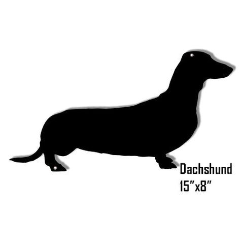 Dachshund Dog Laser Cut Out Reproduction Sign 8″x 15″