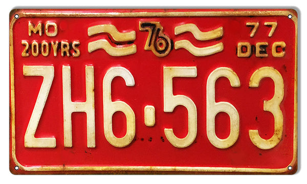 MO 563 License Plate Gas Station Reproduction Sign 8″x14″