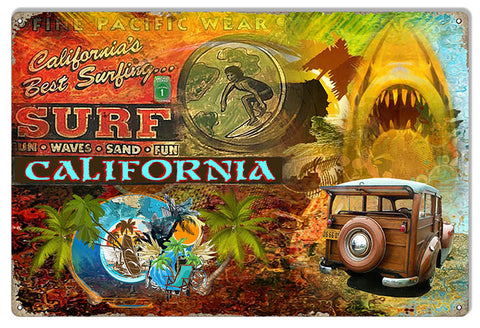 Fine Pacific Wear Surf California By Artist Phil Hamilton 12″x18″