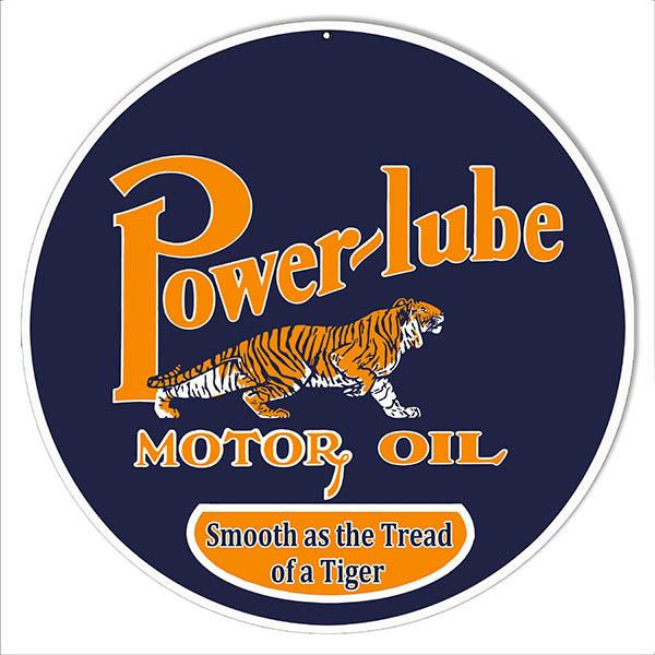 Power-lube Smooth Motor Oil Metal Reproduction Sign