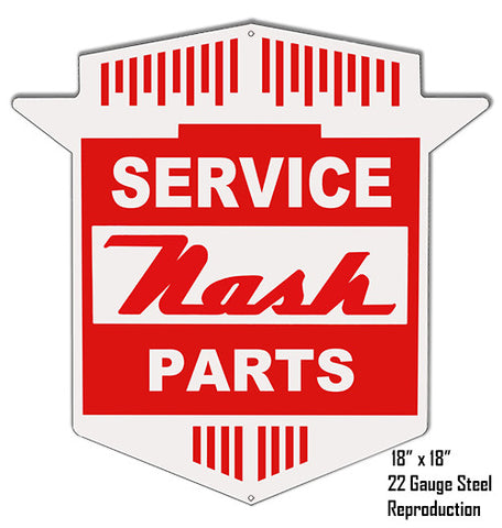 Reproduction Nash Parts Laser Cut Out Metal  Sign 18″x18″