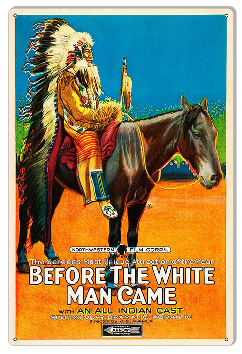 Reproduction Before The White Man Came By Artist Phil Hamilton 12″x18″