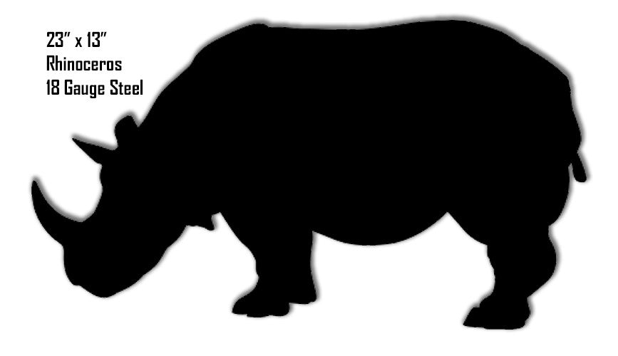 Rhinoceros Animal Silhouette Laser Cut Out Metal  Sign 13″x23″