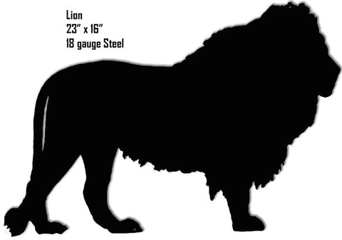 Lion Animal Silhouette Laser Cut Out Metal  Sign 16″x23″