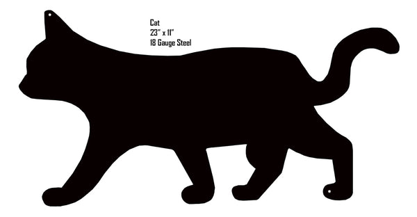 Cat Animal Silhouette Laser Cut Out Metal  Sign 11x23