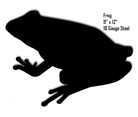 Frog Water Silhouette Laser Cut Out Metal  Sign 9″x12″