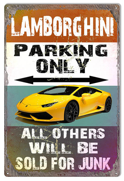 Lamborghini Parking Only Reproduction  By Artist Phil Hamilton 12″x18″