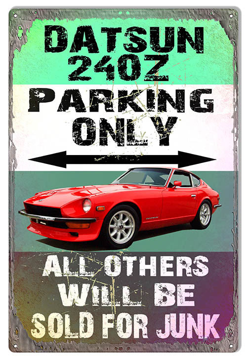 Datsun 240Z Parking Only Reproduction By Artist Phil Hamilton 12″x18″