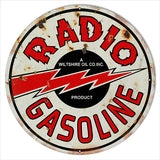 Radio Motor Oil Round Reproduction Metal  Sign