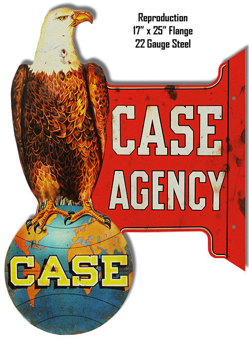 Reproduction Case Agency Laser Cut Out Metal  Sign 17″x25″