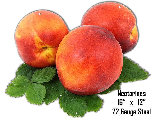 Nectarines Wall Art Laser Cut Out Metal  Sign 12″x16″