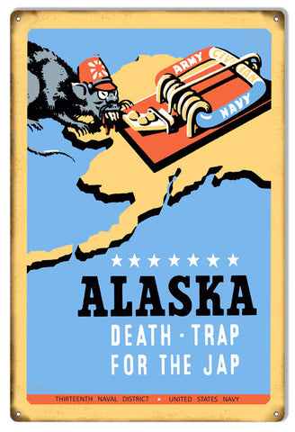 US Navy Propaganda Alaska Reproduction Metal  Sign 12″x18″