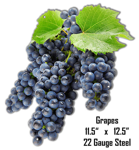 Grapes Wall Art Laser Cut Out Metal Sign 11.5″x12.5″