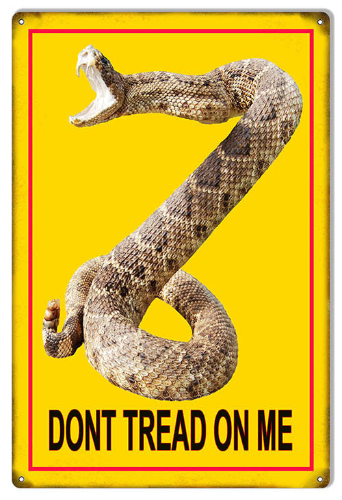 Don't Tread On Me Reproduction Funny Warning Metal Sign 12″x18″