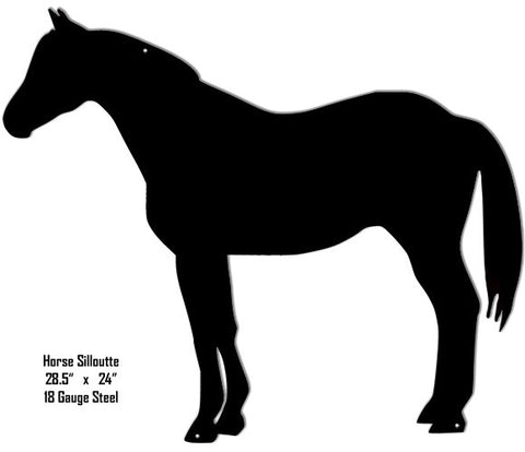 Horse Silhouette Laser Cut Out Metal Sign 24″x28.5″
