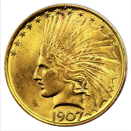 1907 Indian Head Coin Reproduction Money Metal Sign 12″x12""