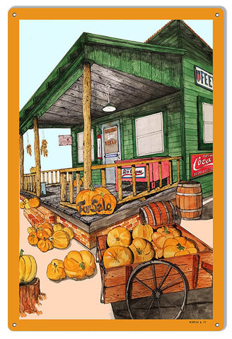 Pumpkin Patch Reproduction Country Store Metal Sign 12″x18″