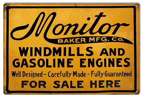 Monitor Well DeMetal Signed Reproduction Motor Oil Metal Sign 12″x18″