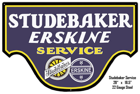 Studebaker Erskine Reproduction Metal Laser Cut Out 18.5″x20″