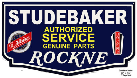 Rockne Studebaker Laser Cut Out Reproduction Metal  Sign 18.5x33