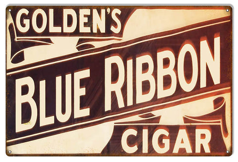 Blue Ribbon Cigar Reproduction Metal  Sign 12″x18″