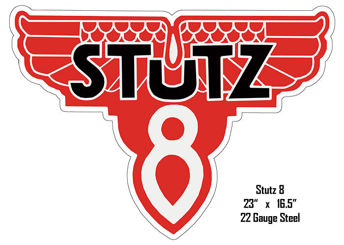 Stutz 8 Laser Cut Out Motor Oil Reproduction Metal  Sign 16.5″x23″