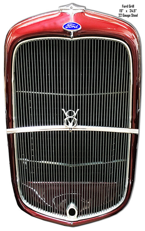 Ford Grill Laser Cut Out Wall Art Reproduction 15″x24.5″ Metal