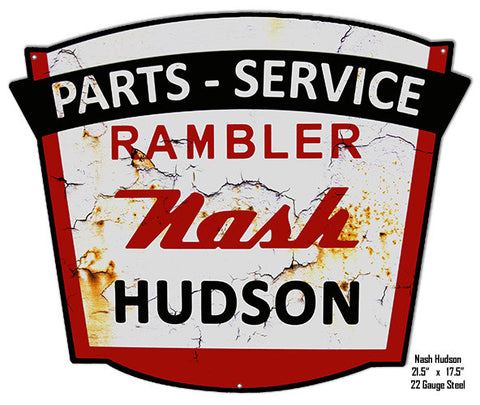 Reproduction Nash Parts Laser Cut Out Metal Sign 18x18