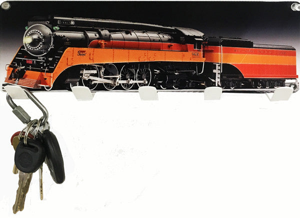 Daylight Train Key Holder Laser Cut Out 6″x12″ Metal