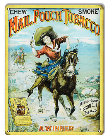Mail Pouch Tobacco Cigar Reproduction Metal  Sign 9″x12″
