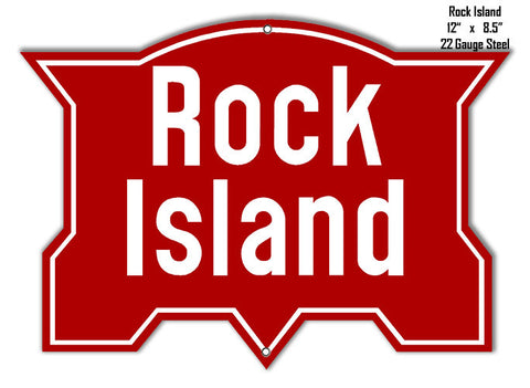 Rock Island Railroad Reproduction Metal  Sign 8.5x12