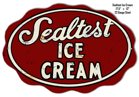 Sealtest Ice Cream Laser Cut Out Reproduction Metal  Sign 12″x17.5″
