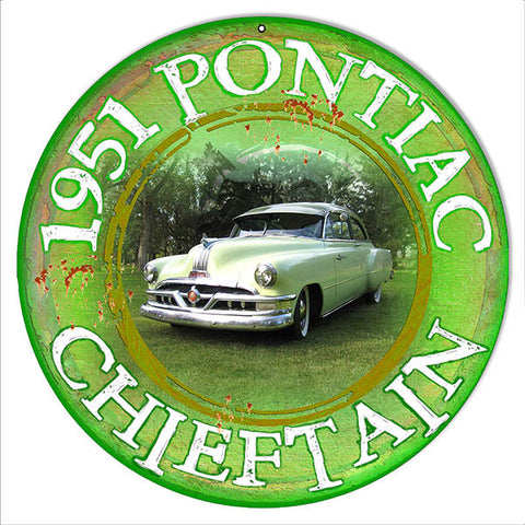 1951 Pontiac Chieftain By Artist Phil Hamilton 14″x14″
