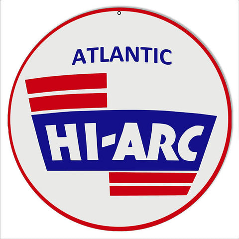 Atlantic Hi-Arc Motor Oil Reproduction Metal  Sign 14″x14″