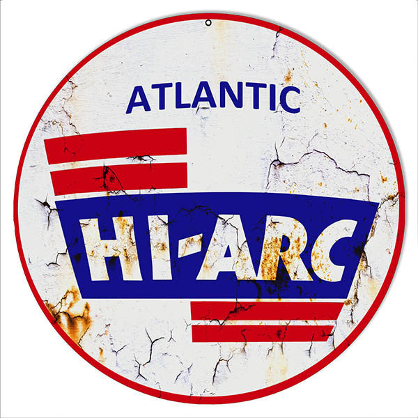 Aged Looking Hi-Arc Motor Oil Reproduction Metal  Sign
