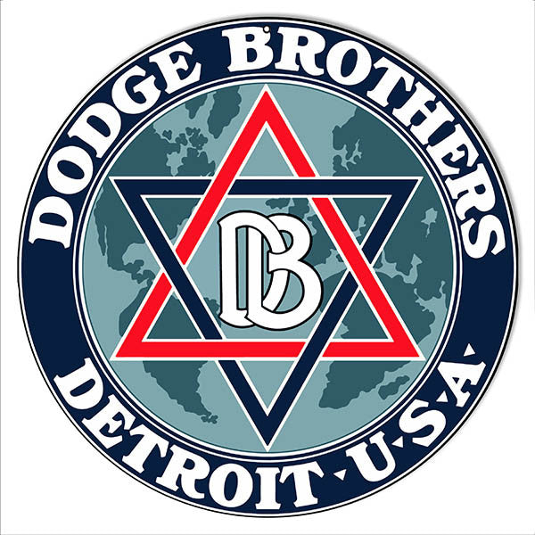 Dodge Bros Detroit Garage Shop Reproduction Metal  Sign 14″x14″