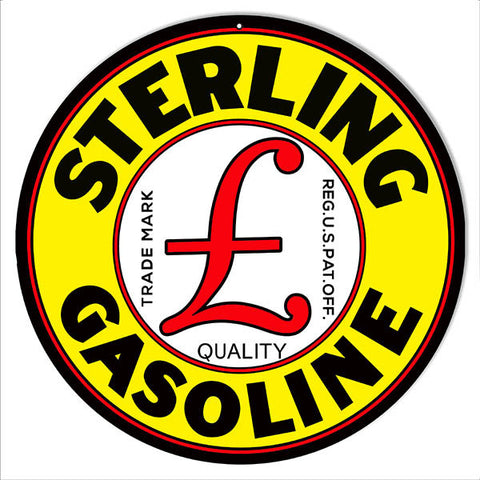 Sterling Motor Oil Reproduction Metal  Sign 14″x14″